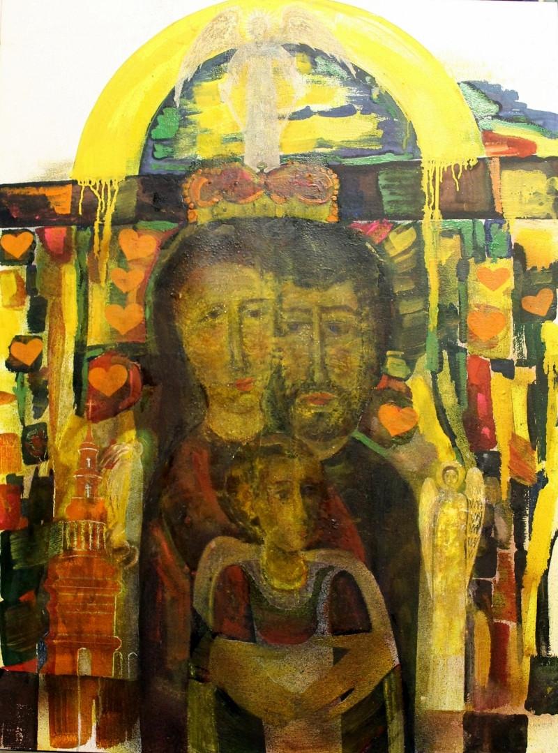 Stanisław Kiczko. Miłość caritas. Olej. Płótno 120x90