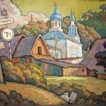 Czesław Szamszur. Plisa - wieczorny szkic. Karton. Pastel 50x62