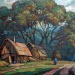 Czesław Szamszur. Sobota. Karton. Pastel 60x70