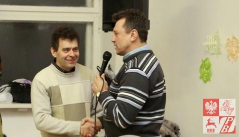 Prezes ZPB gratuluje nowemu prezesowi oddziału grodzieńskiego