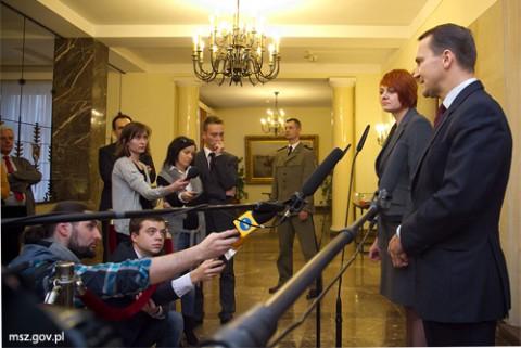 Podczas konferencji prasowej po spotkaniu