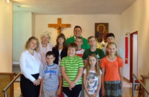 Program pobytu był oparty o zajęcia związane z wiarą i wartościami religijnymi, fot.: odraniemen.org