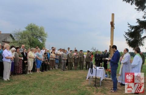 Uroczystość poświęcenia krzyża