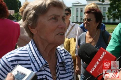 Weronika Sebastianowicz po ogłoszeniu orzeczenia sądowego