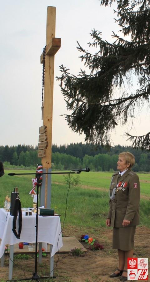Przemawia kpt. Weronika Sebastianowicz