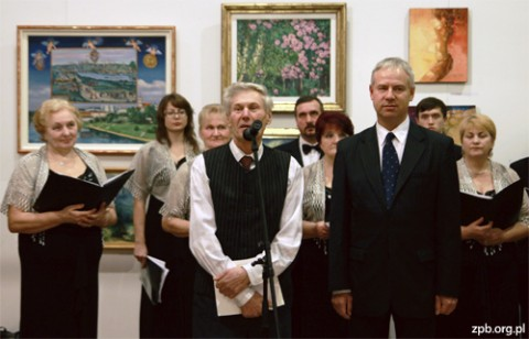 Stanisław Kiczko, prezes Towarzystwa Plastyków Polskich opowiada o ekspozycji