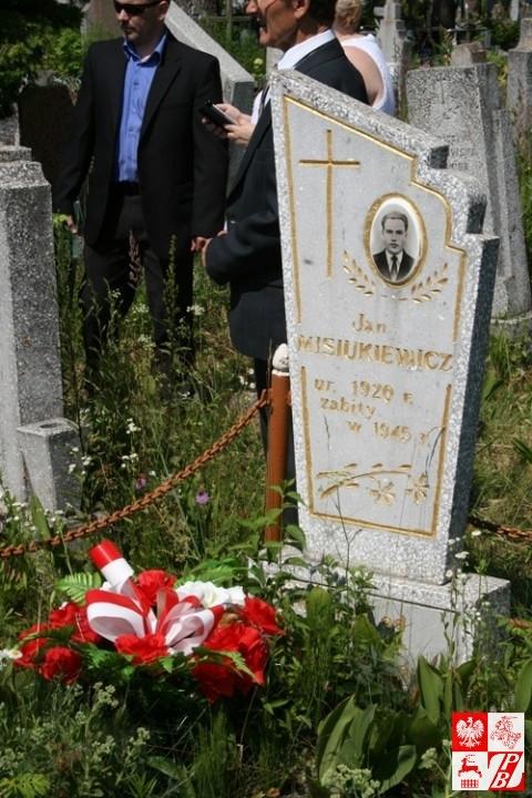 Grób żołnierza AK Jana Misiukiewicza