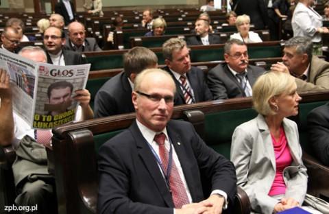 Uczestnicy Zjazdu w sali obrad Sejmu RP