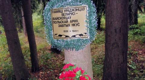 Tabliczka pamięci polskich żołnierzy, ufundowana przez Igora Kuzniecowa, fot.: Włodzimierz Pac, Polskie Radio