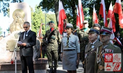 Prezes Zarządu Głównego Związku Sybiraków Tadeusz Chwiedź wita zebranych