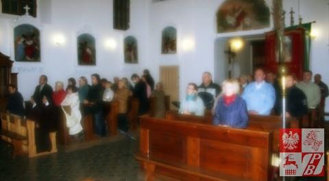 Podczas Mszy św. w intencji obrońców Grodna w kościele w podgrodzieńskich Adamowiczach