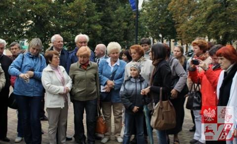 Grupa działaczy ZPB z Mińska podczas zwiedzania Połocka
