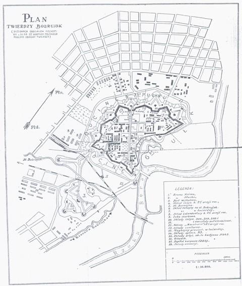 Plan Twierdzy Bobrujskiej, 1918 r.