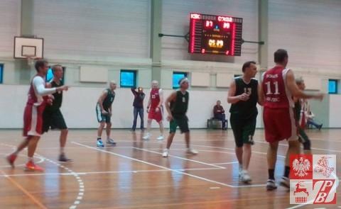 Mecz koszykarzy KSK Kaunas z drużyną Sokół-Brześć