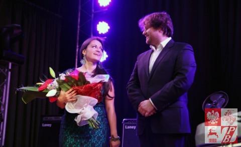 Ewelina Saszenko i jej akompaniator Paulus Zdanavičius