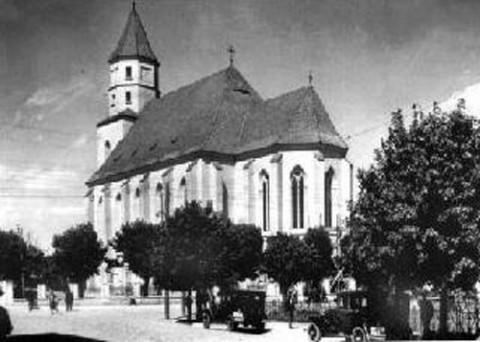 Fara Witoldowa jako kościół garnizonowy, lata 30. XX wieku, fot.: wikipedia.org