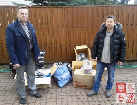 Artur Kondrat i fundator sprzętu Dariusz Trzciński z CREW24
