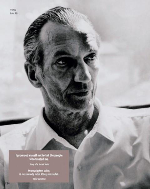 """Jan Karski, lata 70., źródło: Maciej Sadowski """"Jan Karski. Fotobiografia"""", Wydawnictwo VEDA, 2014"""