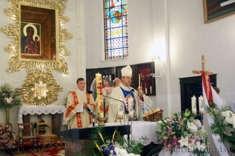 Mszę świętą celebrował ksiądz biskup Józef Staniewski