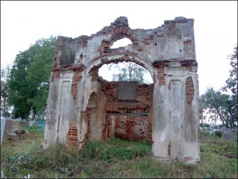 Ruiny Mauzoleum Leonidy Sołtanowej z Uzłowskich, fot.: K. Szastouski/Radzima.org