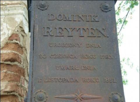Tablica nadgrobna na pomniku Dominika Rejtana, fot.: Mariusz Proskień/Radzima.org