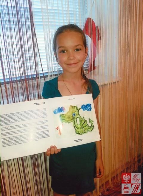 Ośmioletnia laureatka konkursu z Lidy Wioletta Piuta