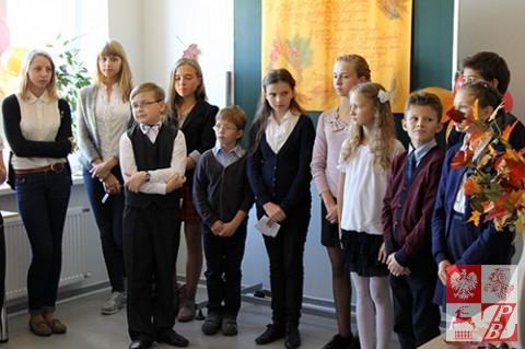 Podczas występu uczniów Polskiej Szkoły Społecznej przy Oddziale ZPB w Brześciu