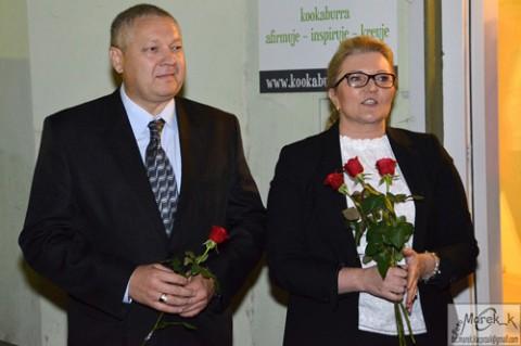 Inicjatorzy wystawy Gennadiusz Picko i Renata Mosiołek