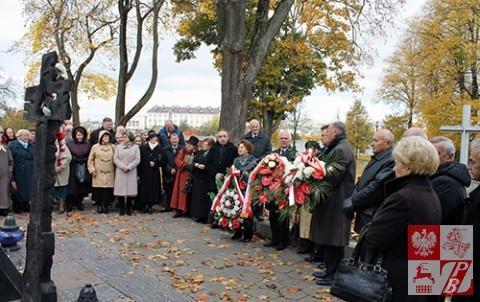 Uroczystości przy Krzyżu Katyńskim