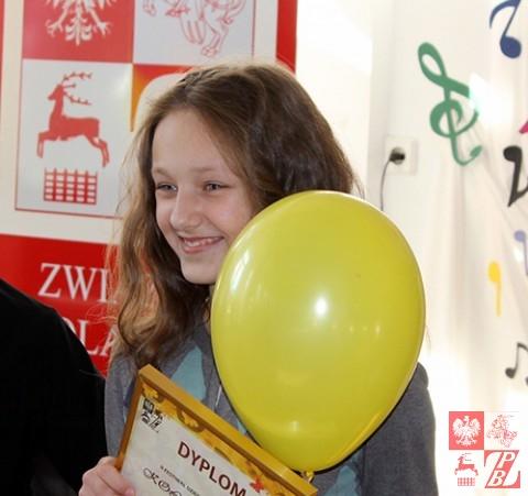 """Zofia Borel, zdobywczyni Grand Prix """"Kolorowych Nutek 2014"""""""