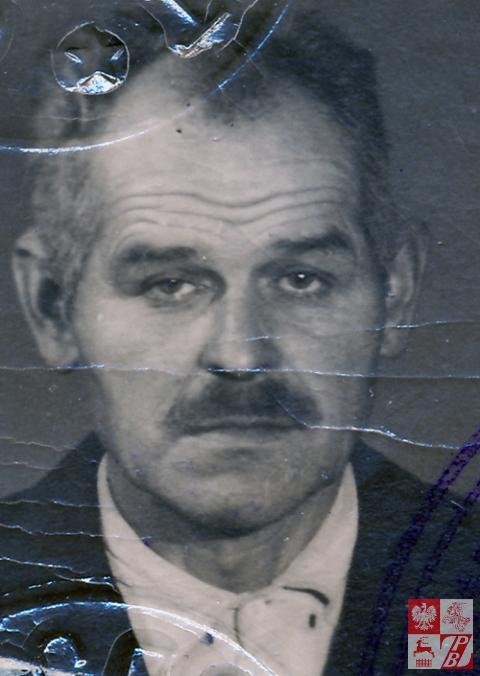 Kazimierz Sacharczuk po wojnie, zdjęcie z sowieckiego paszportu