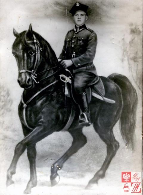 Jan Kozieł na swoim koniu Polonezie