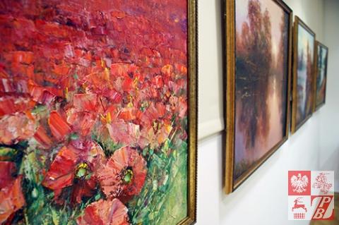 Na wystawie jubileuszowej  Genadiusz Picko zaprezentował pejzaże