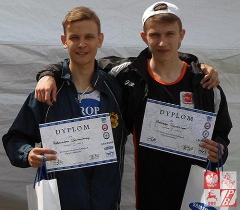 Dwaj zwycięzcy z Grodna Aleksander Gławiński i Aleksy Rymarczyk