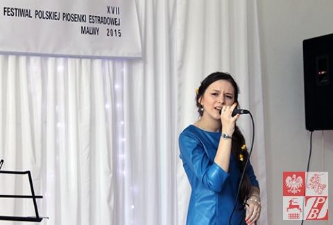 Bożena Worono, II miejsce, podczas występu konkursowego