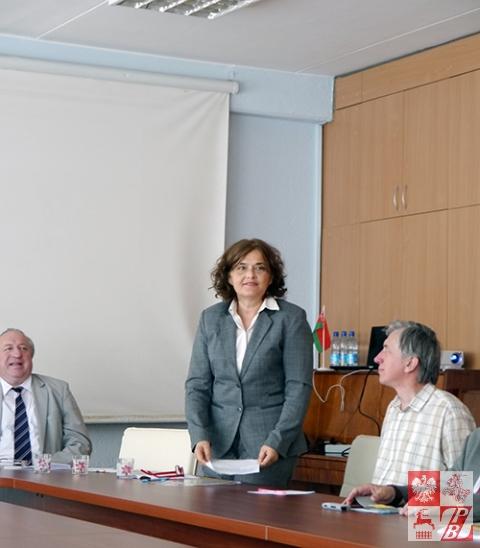 Przemawia Urszula Doroszewska, dyrektor Instytutu Polskiego w Mińsku