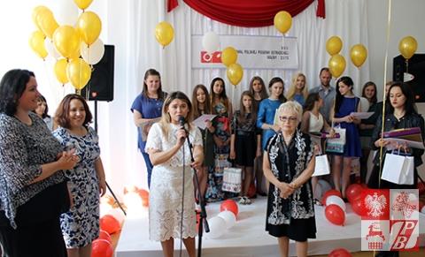 Weronika Szarejko składa podziękowania uczestnikom, gościom wydarzenia i publiczności