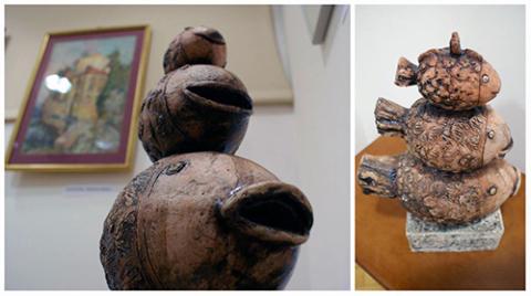 ceramika Arsenija Martyńczuka, fot.: Biblioteka Główna Uniwersytetu Medycznego w Białymstoku