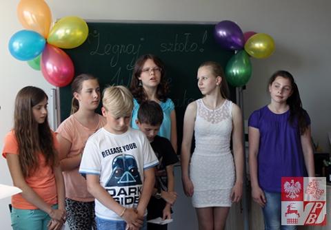 Uczniowie Szkoły Społecznej przy Oddziale ZPB w Brześciu