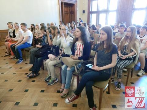 Uczestnicy spotkania w Urzędzie Miasta Krakowa