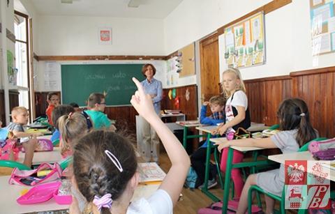 Podczas zajęć najmłodszych uczniów