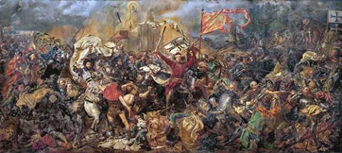 """""""Bitwa pod Grunwaldem"""" Jana Matejki, fot.: www.pinakoteka.zascianek.pl"""