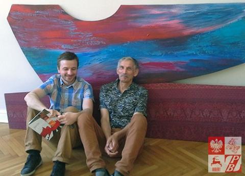 Pawel_Kastusik _i_malarz_z_ Polski_Marian_Stepniak_szykuja_si-_do_wystawy