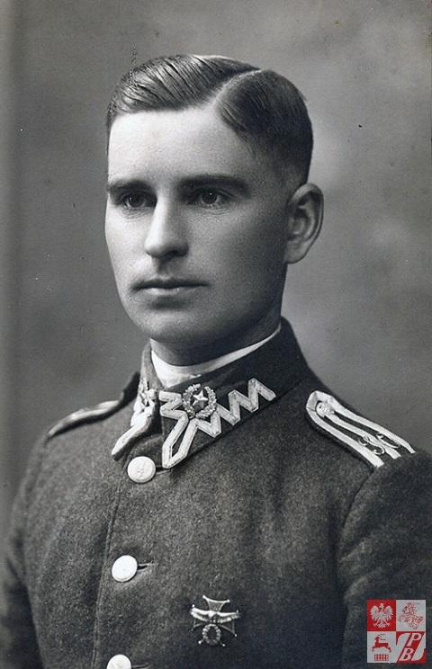 Narcyz Łopianowski w 1927 roku jako podchorąży