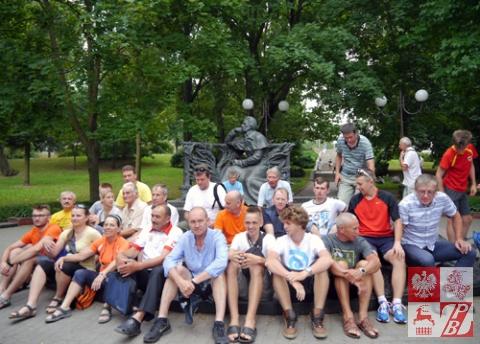 Przy pomniku Adama Mickiewicza w Mińsku