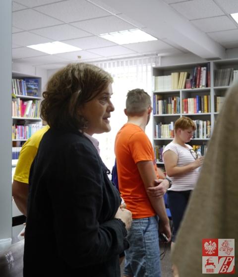 W Instytucie Polskim w Mińsku pielgrzymów przywitała dyrektor placówki Urszula Doroszewska