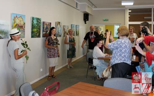 Wernisaż wystawy uczestników pleneru w Mrągowie