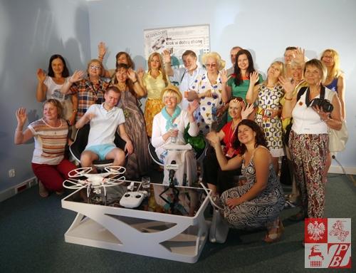 Uczestnicy warsztatów dziennikarskich w studio telewizyjnym Gazety Olsztyńskiej