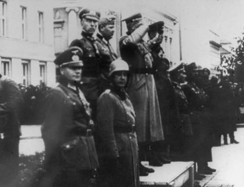 Wspólna defilada wojsk Hitlera i Stalina w Brześciu Litewskim, 28 września 1939 r.