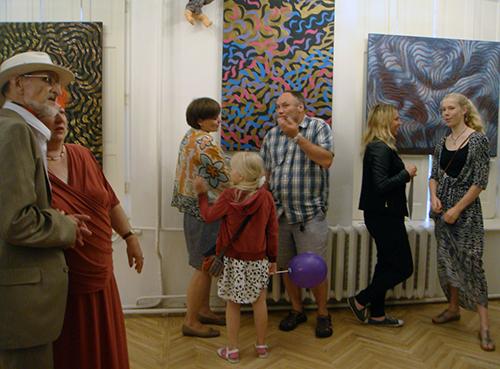 """Podczas wernisażu wystawy """"Turbulencja"""" w Rydze, w lipcu 2015 roku"""